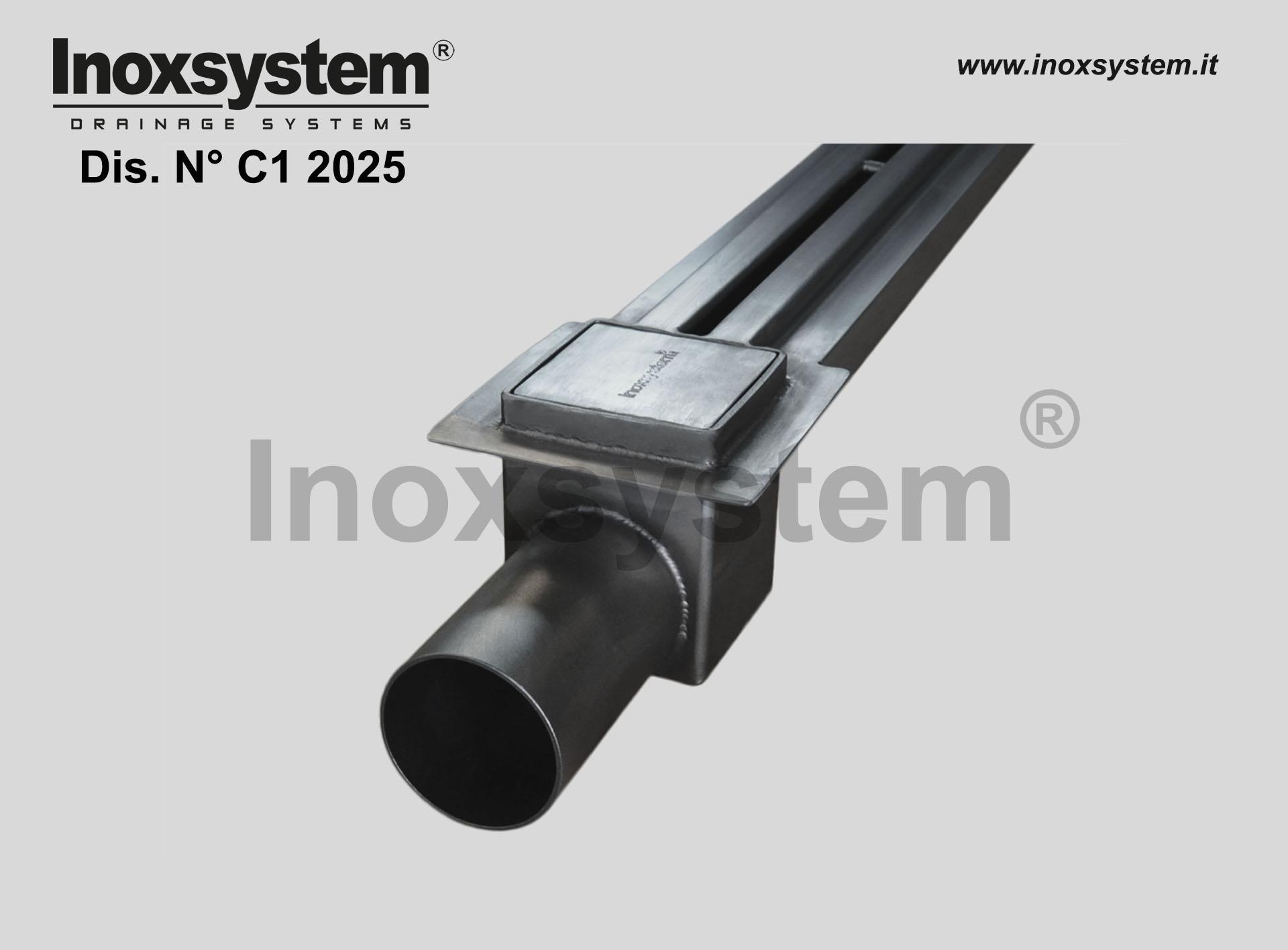 bordo porta guaina per canale a fessura ridotta in acciaio inox