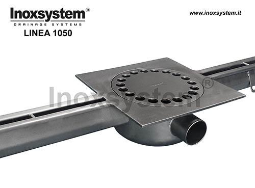 Canales con ranura en acero inoxidable con sumidero en placa bajo salida sifonada y filtro extraíble