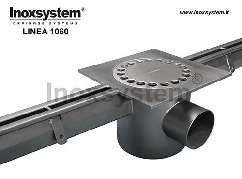 Canales con ranura estándar en acero inoxidable con sumidero en placa salida sifonada filtro extraíble
