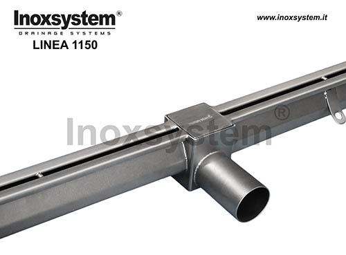 Canales con ranura anti tacón en acero inoxidable con sumidero de inspección salida directa sin sifón y filtro extraíble