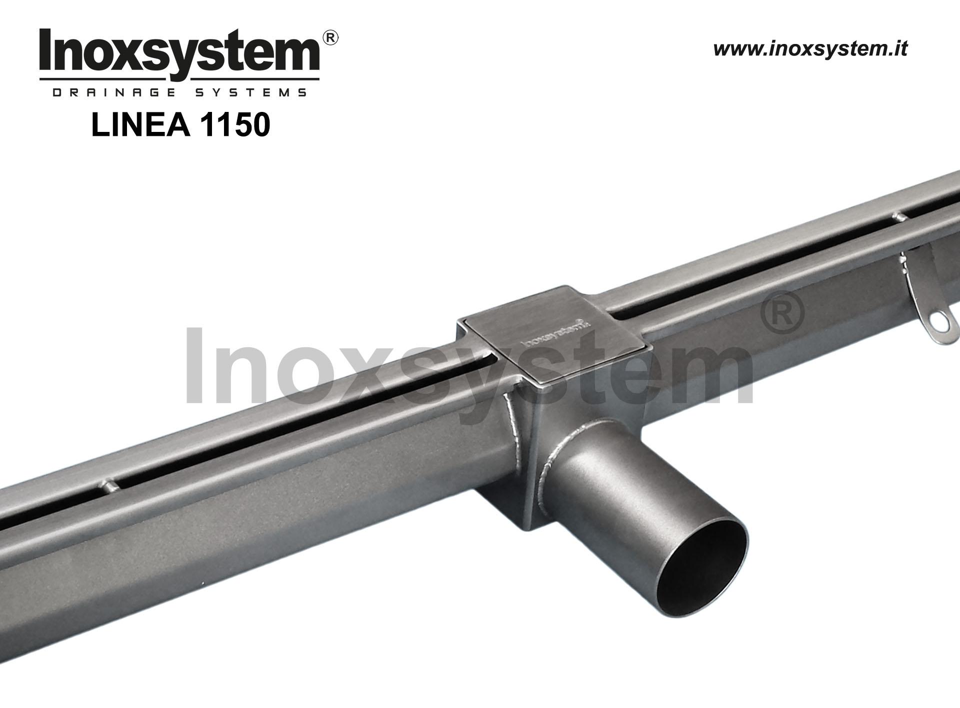 Caniveaux à fente anti-talon avec sortie directe et panier amovible, avec regard d' inspection en acier inoxydable
