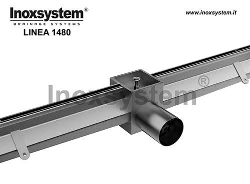 Caniveaux fente avec élément d'àccess et grille paver en acier inoxydable