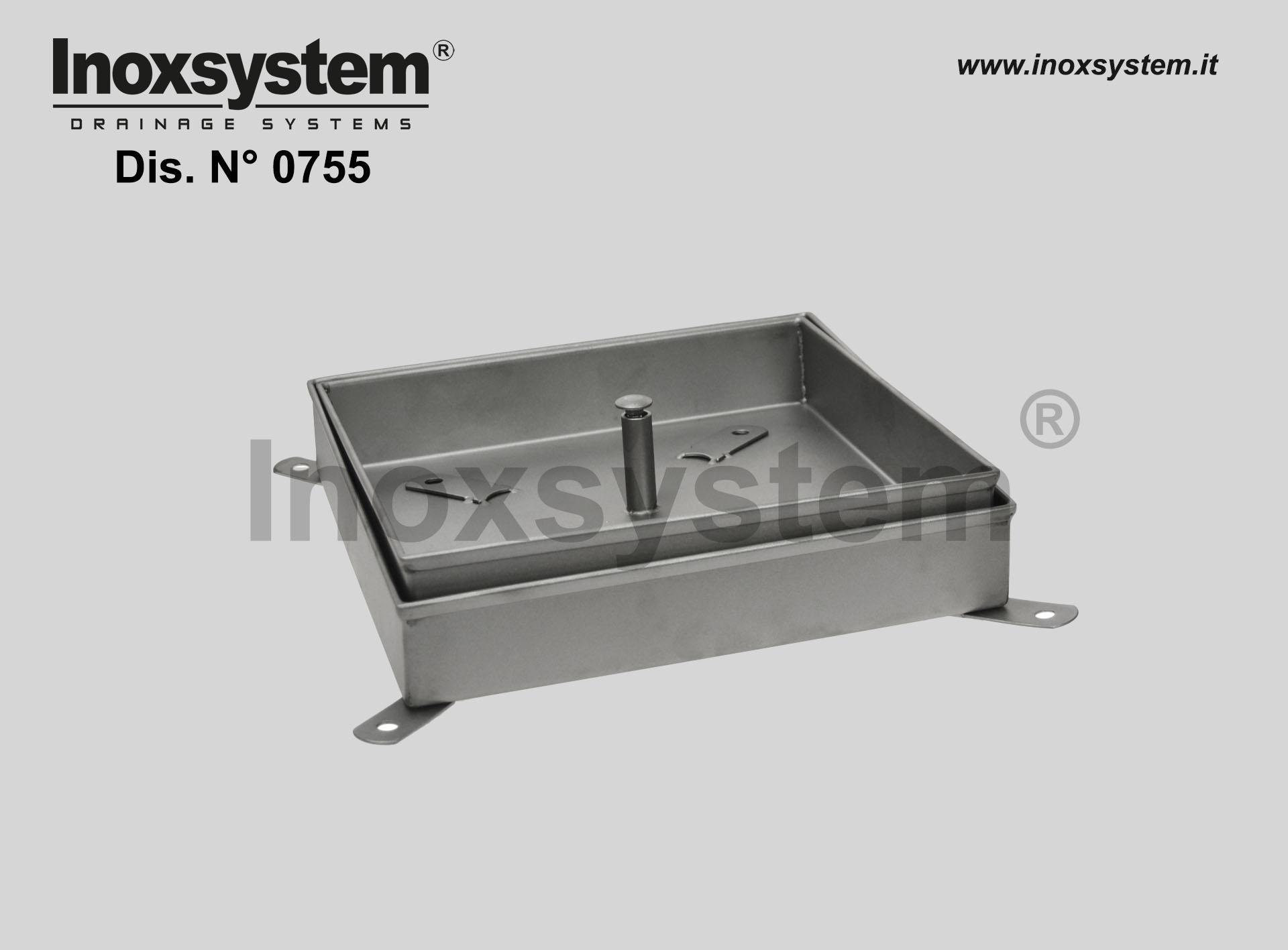 Chiusini di ispezione a riempimento con controtelaio in acciaio inox serie intermedia
