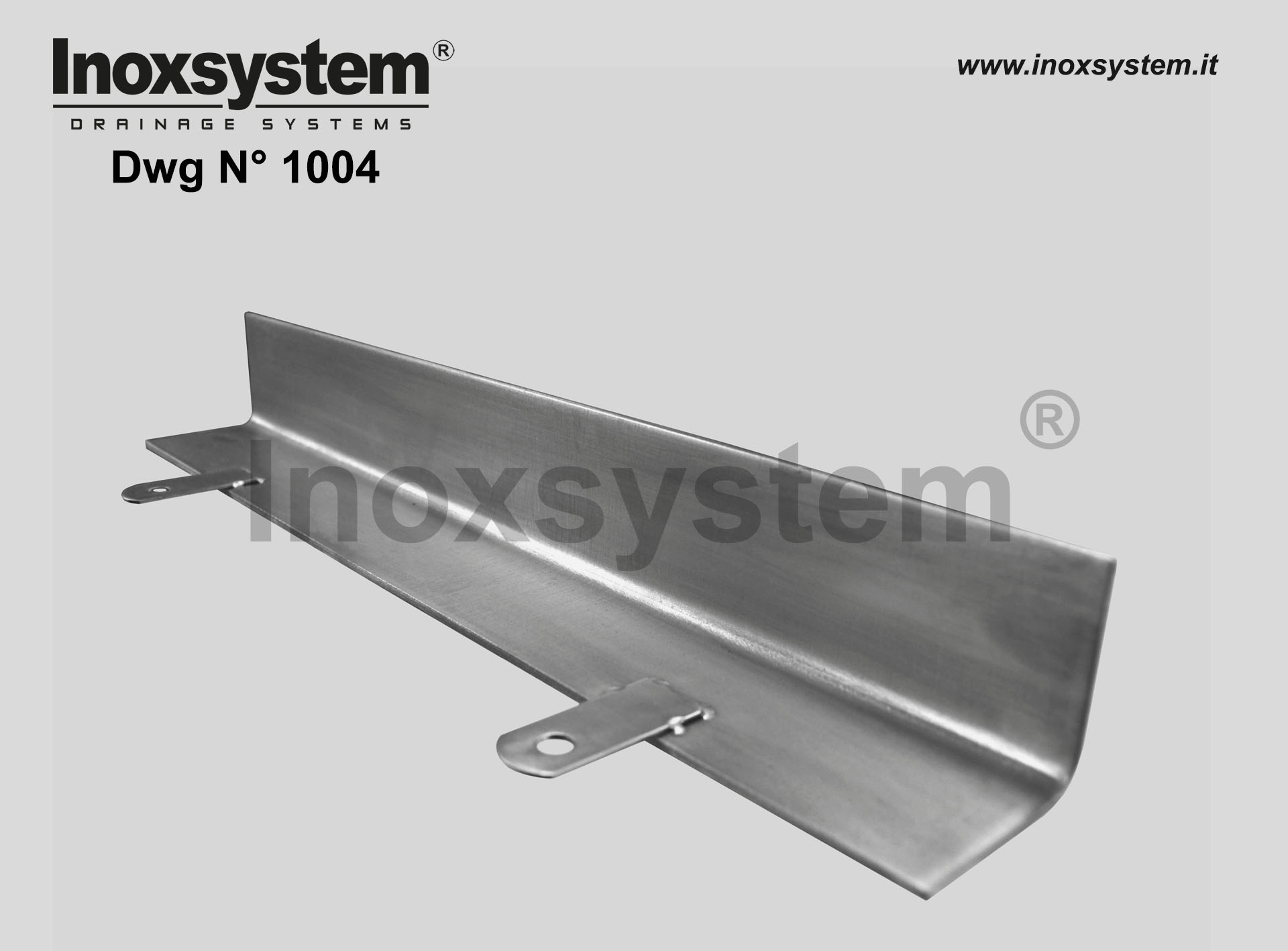 Stainless steel terminal profiles or floor protection edges DWG 1004