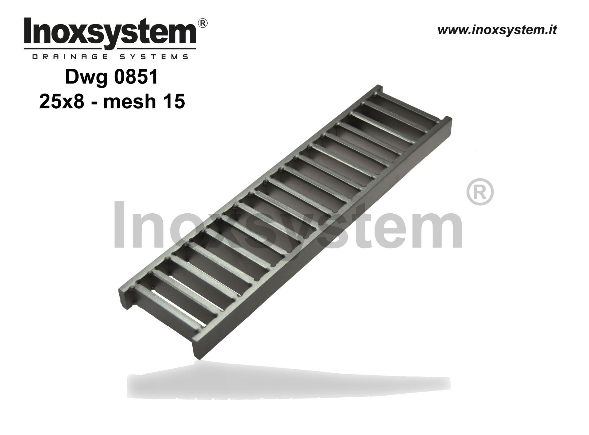 Heavy duty ladder gratings flat bars 25x8 mesh width 15 in stainless steel