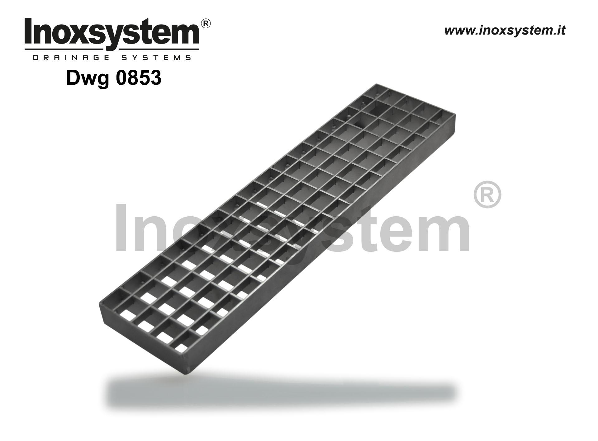 Standard gratings in stainless steel