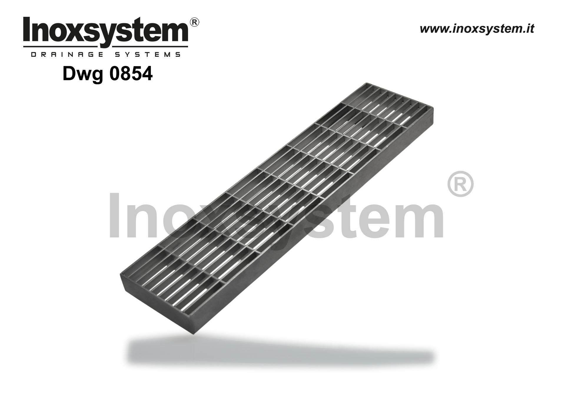 Heel proof gratings in stainless steel