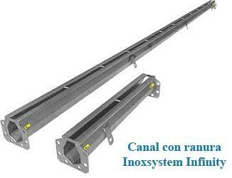 canal con ranura inoxsystem infinity en acero inoxsidable