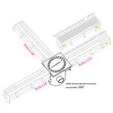 dibujo Sumidero con descarga horizontal con sifón con filtro que incluye una brida Inoxsystem Infinity