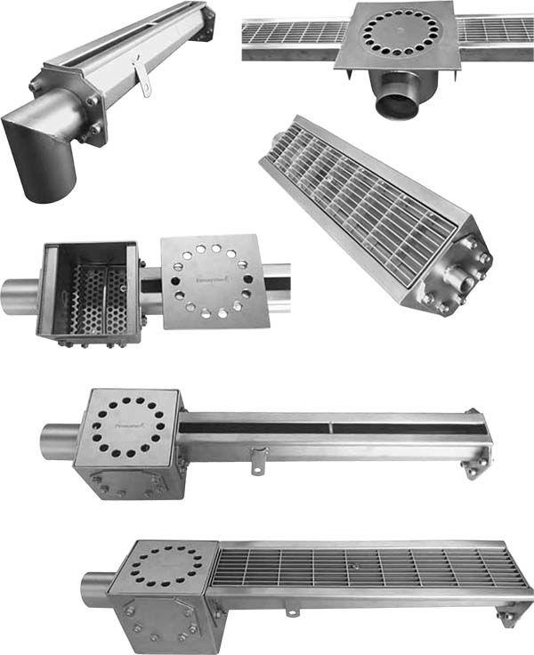 Ejemplos de montaje de canales Inoxsystem Infinity