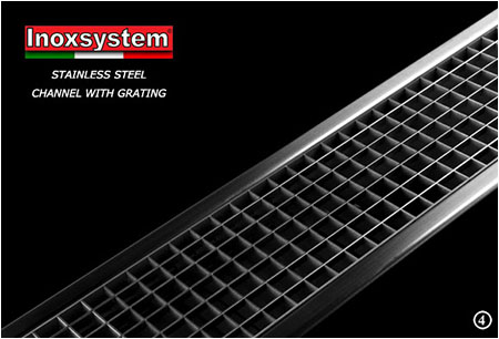 Stainless steel channel with grating