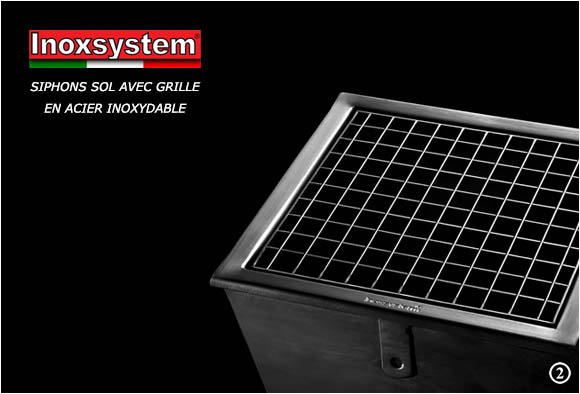 Stainless steel gullies with grating