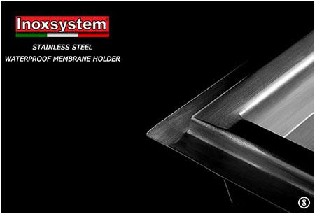 Stainless steel waterproof membrane holder