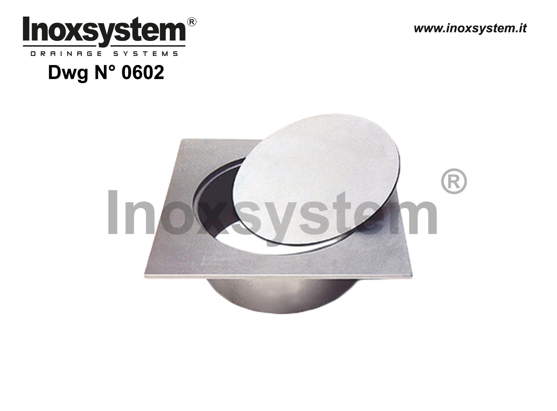 Stainless steel square top inspection floor drain open bottom blind cover plate