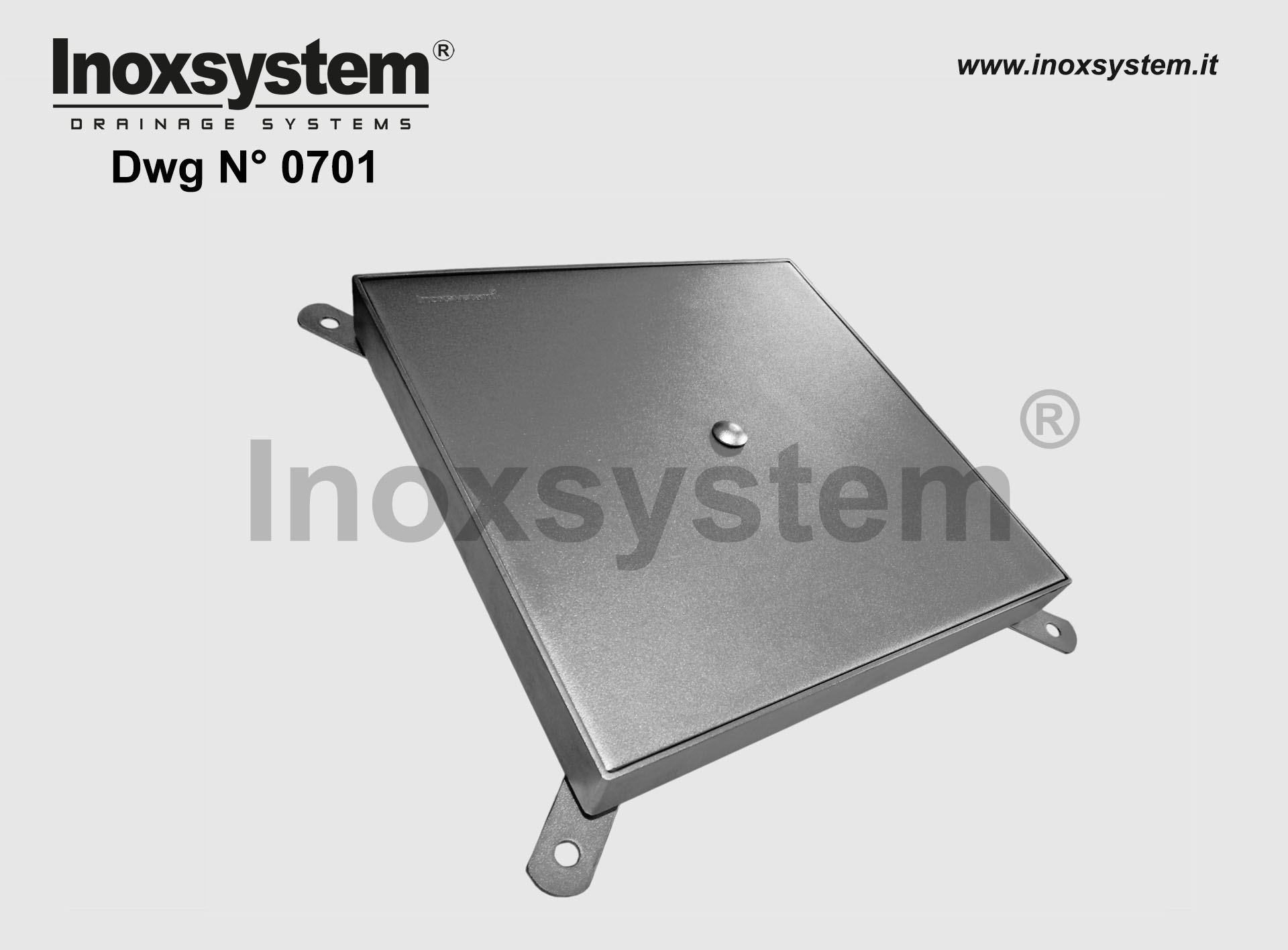 Stainless steel access covers with sub-frame (heavy series) DWG 0701