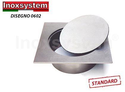 Tampons pleins ronds à fermeture hydraulique pour boites de branchement avec cadre carrée en acier inoxydable
