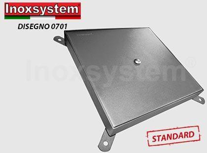 Couvercle de regard en tôle en acier inoxydable avec cadre série pour poids lourds