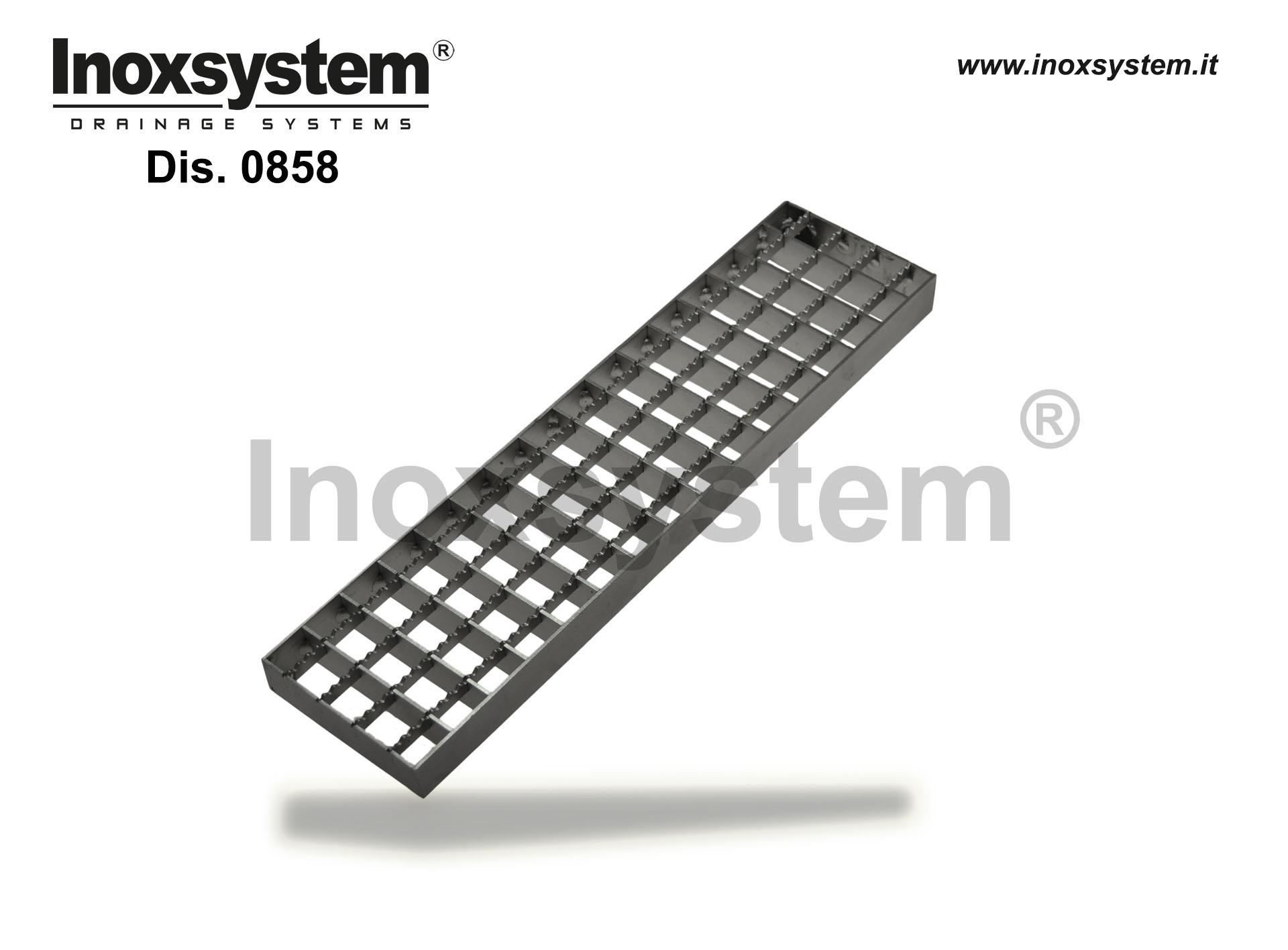Rejillas estándar antideslizante en acero inoxidable