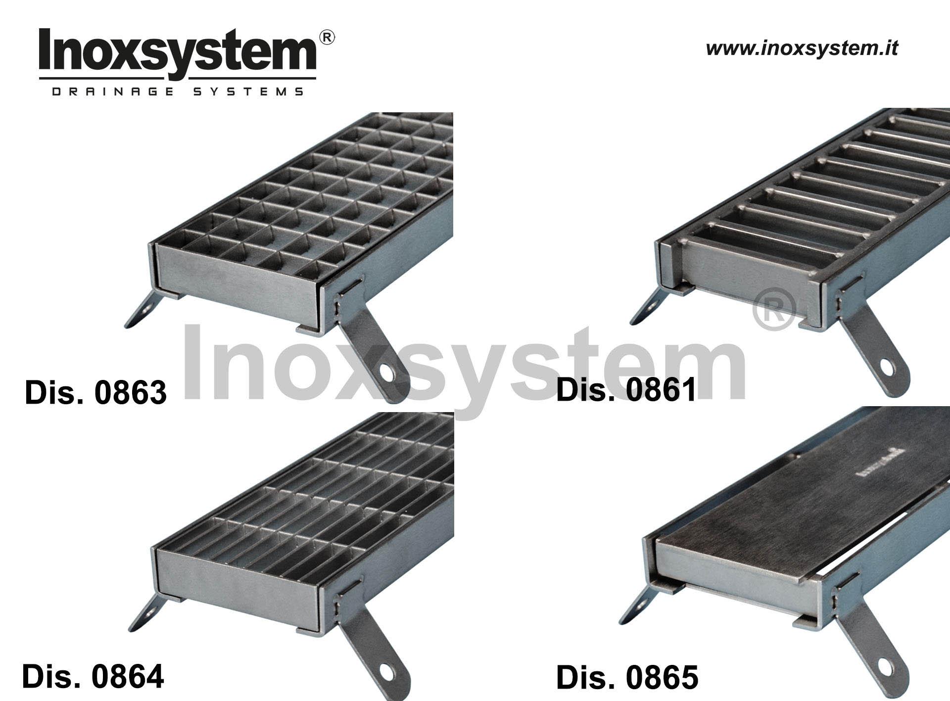Accesorios para rejillas armazón en acero inoxidable para rejillas de inspección