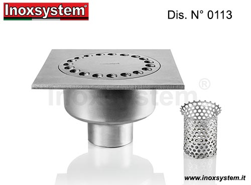 Siphons de sol standards et surbaissés sortie verticale en acier inoxydable