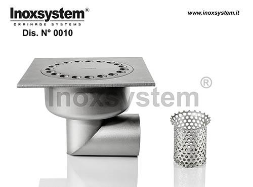 Sumideros en acero inoxidable estándar y bajos salida horizontal con filtro extraíble después del sifonado