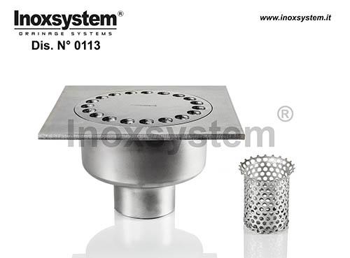 Sumideros estándar y bajos salida vertical con filtro extraíble en acero inoxidable