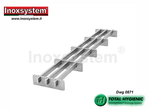 Inoxsystem® Total Hygienic Multi-Slot grating made of stainless steel – antibacterial and anti-slip LINE 0871