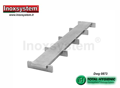 Inoxsystem® Total Hygienic double slot grating made of stainless steel – antibacterial and anti-slip LINE 0873
