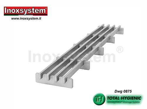 Inoxsystem® Total Hygienic Multi-Slot Design grating made of stainless steel – antibacterial LINE 0875