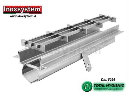 Caniveau de drainage bords droits verticaux arrondis en acier inoxydable en acier inoxydable