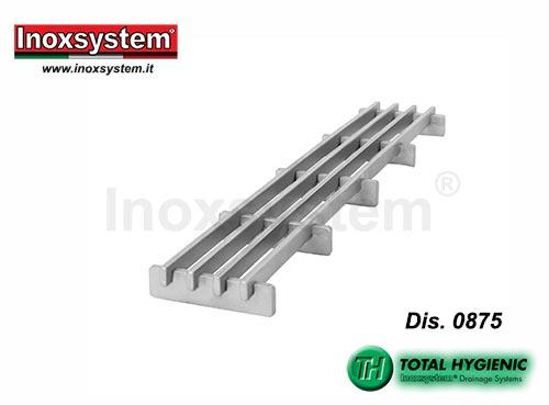 Griglia in acciaio inox multi fessura design antibatterica Total Hygienic