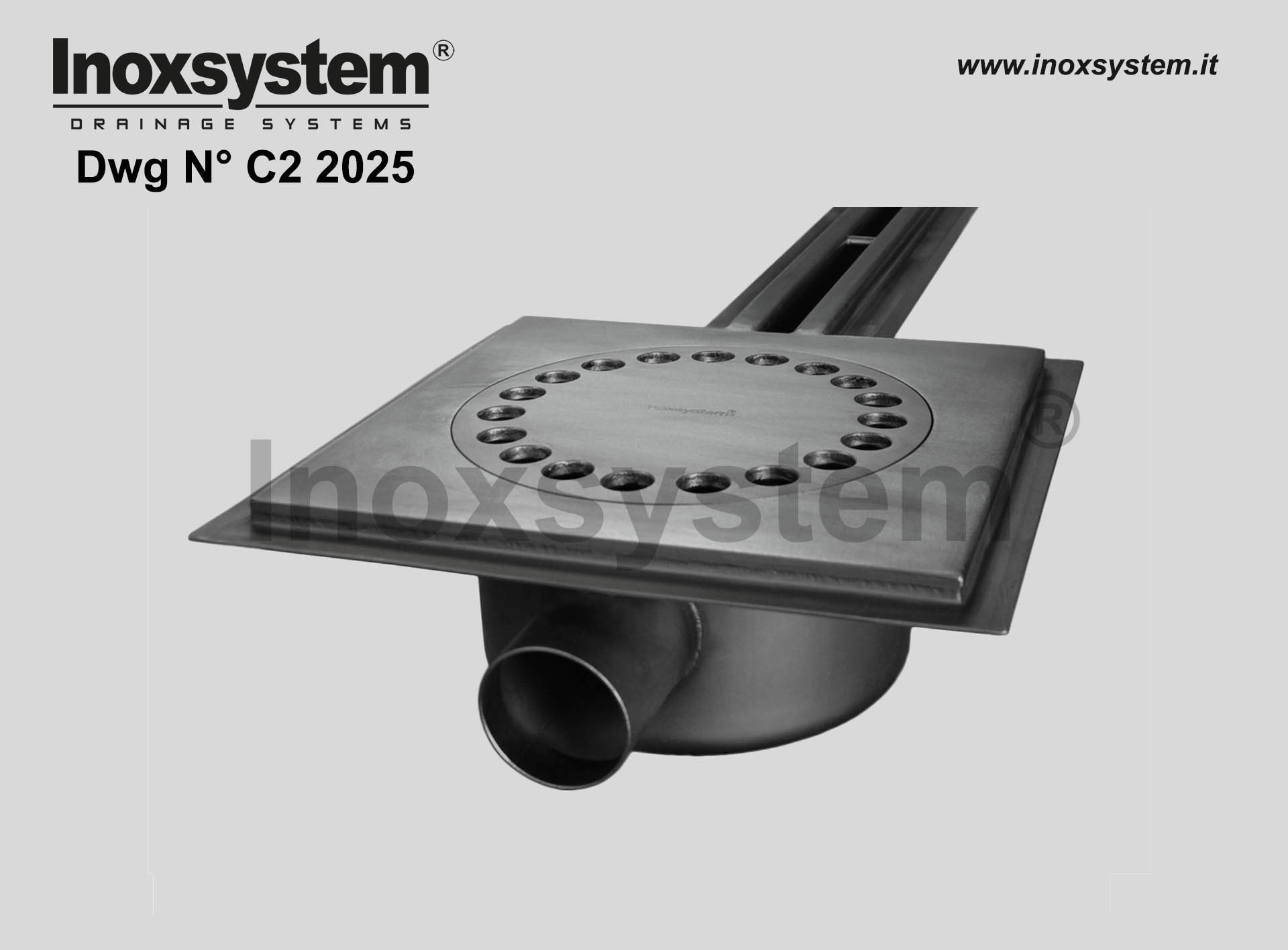 Art. C2 2025 Waterproof membrane holder for channels with standard slot DRAWING 2025
